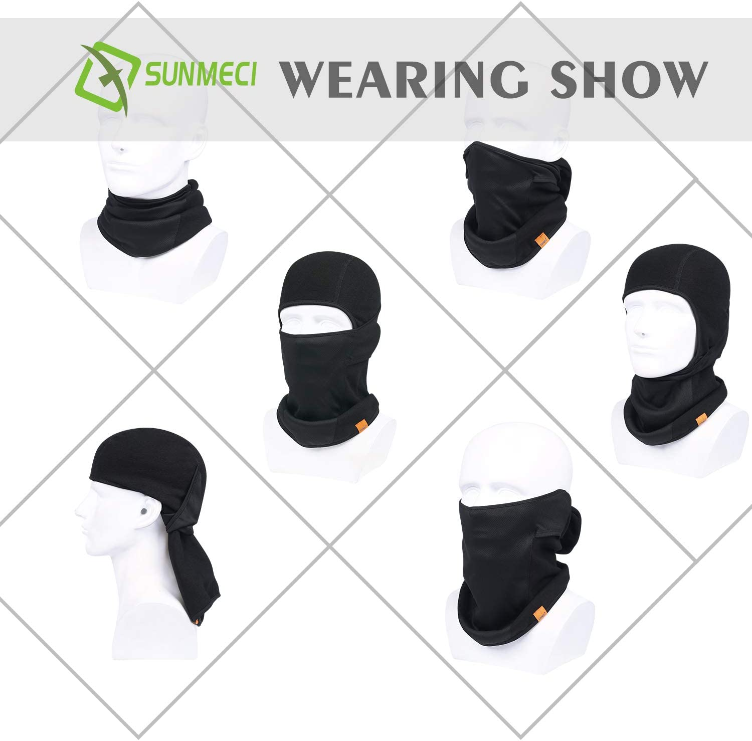 Windproof and Warmer Fleece Cold Weather Face Mask in Winter for Skiing Snowboarding Motorcycling Balaclava Ski Mask