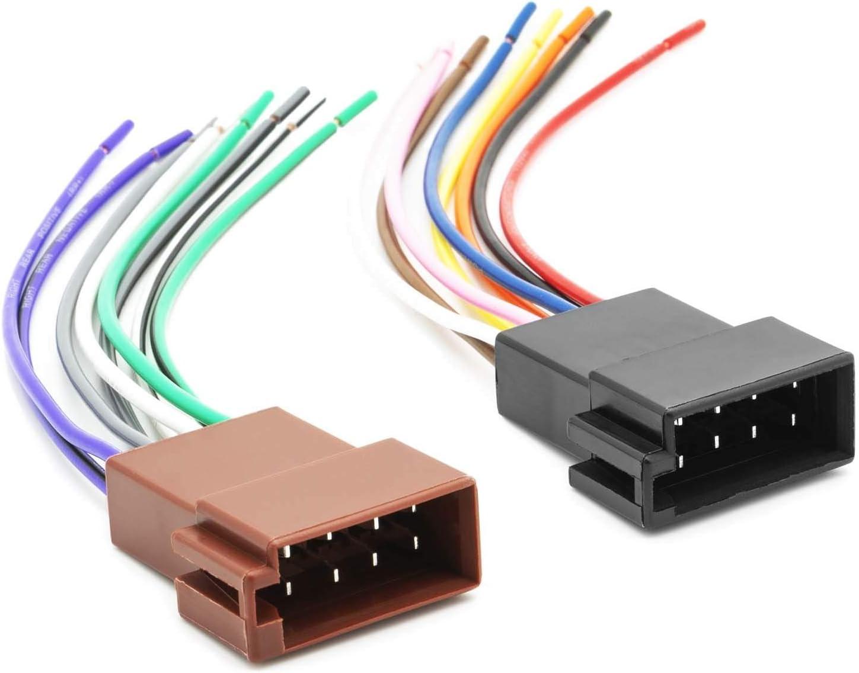 Cable adaptador universal para radio de coche, DIN ISO hembra, corriente para altavoz