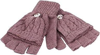 Women Men Winter Warm Thermal Converter Fingerless Gloves Flip Top Gloves