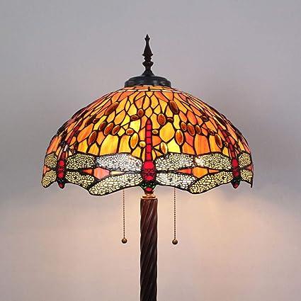 Gweat Tiffany 18 Pulgadas de Color Naranja libélula Colorido ...