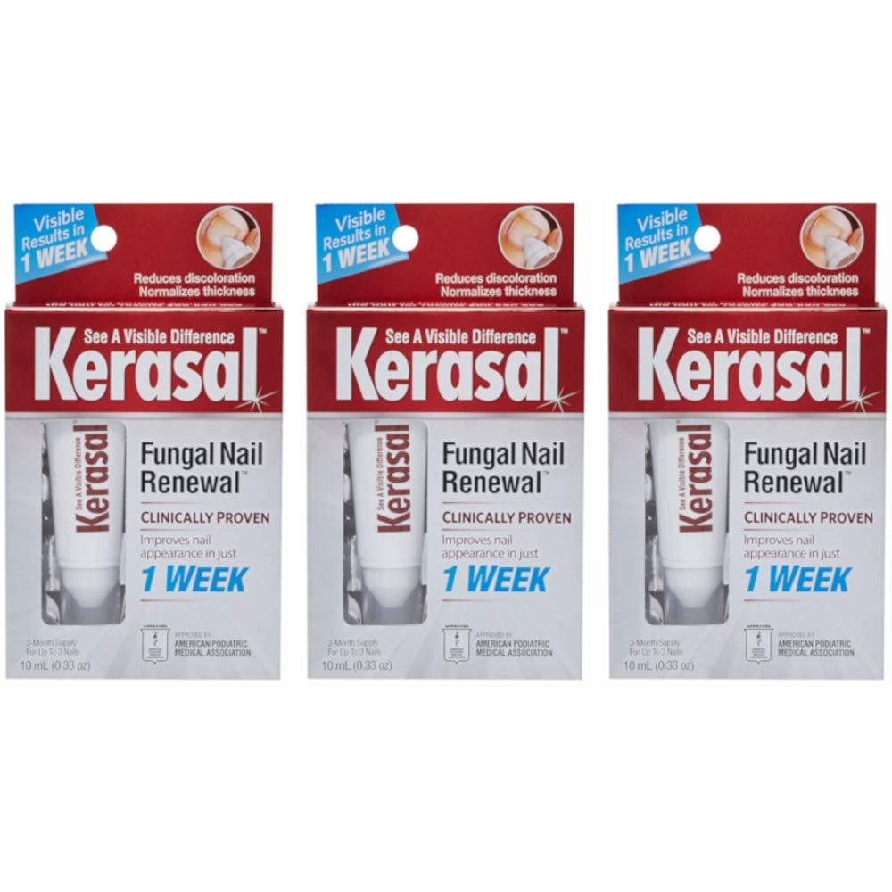 Kerasal Nail Fungal Nail Renewal Treatment 10 ML Each (Value Pack Of 3) by Kerasal