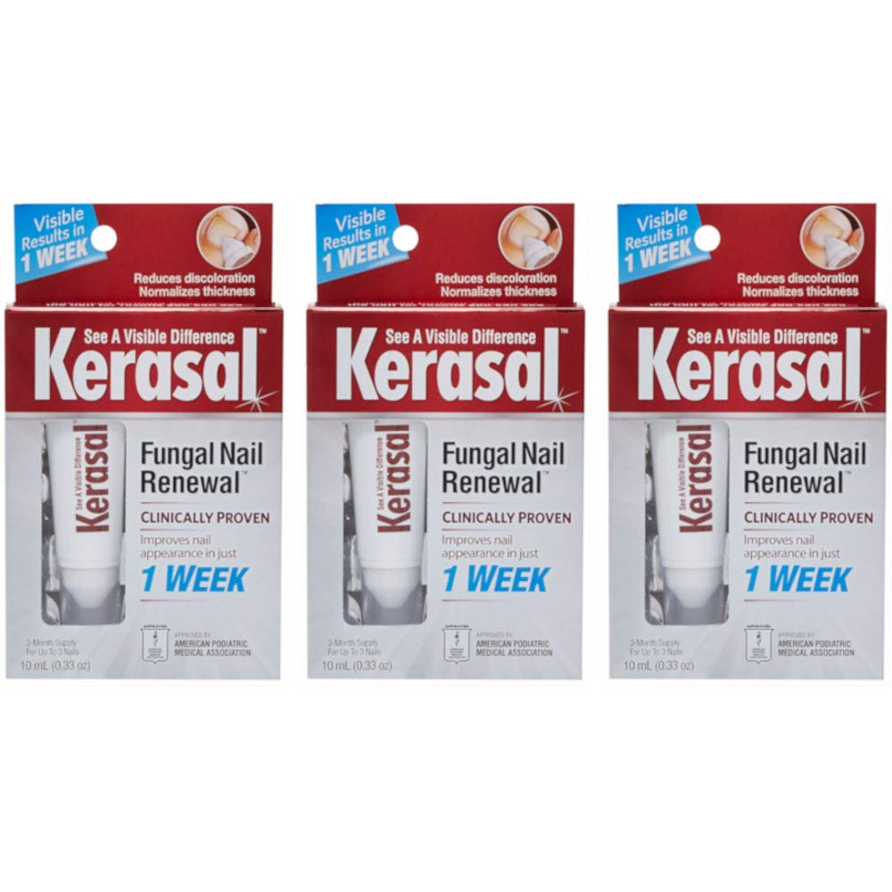 Kerasal Fungal Nail Treatment, Size .33 Ounces (Value Pack of 3)
