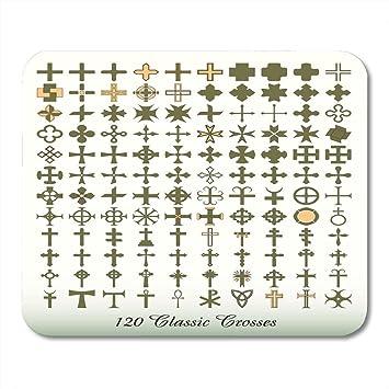 Alfombrillas para ratón Colección de la cruz católica griega ...
