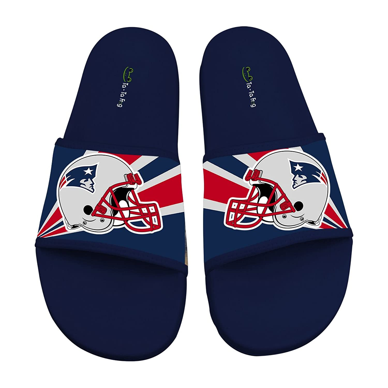 12813dc4ab44 hot sale 2017 Ta-ta Frog New England Patriots Slippers Slip Beach Sandals  Shoes Footwear