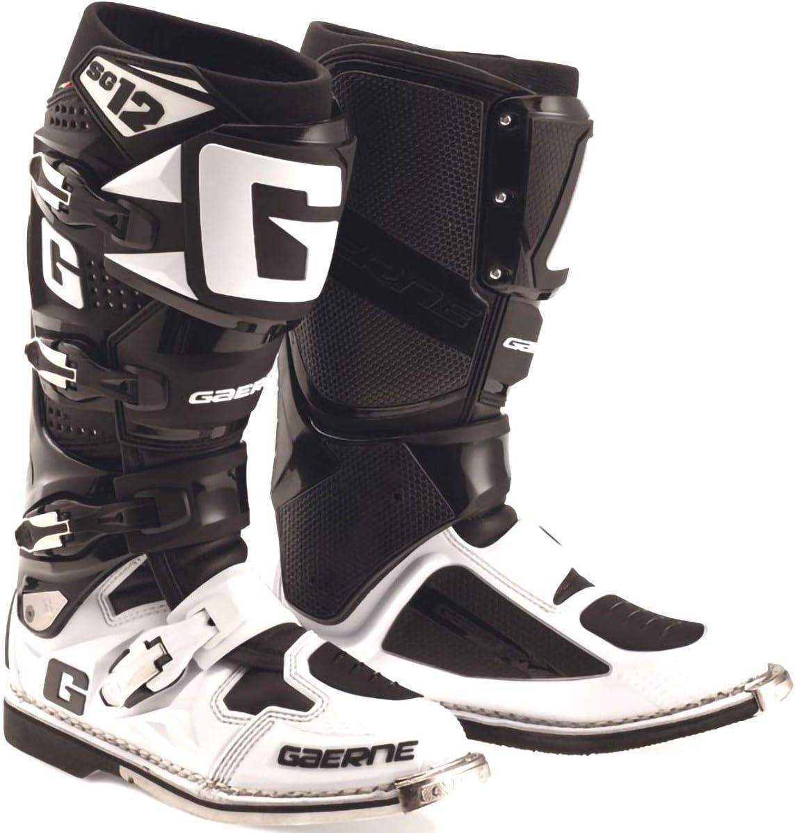 Gaerne SG-12 Boots-Black//White-9