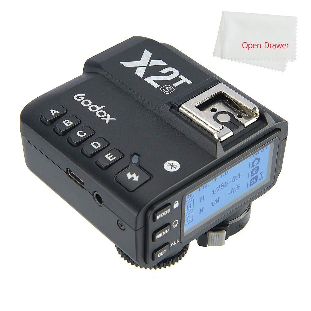 Godox X2T-S TTL Wireless Flash Trigger Compatible Sony, 1/8000s HSS TTL Function, Phone APP Adjustment, New Hotshoe Locking, New AF Assist Light by Godox