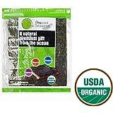 Organic Seaweed Sushi Nori Premuum Grade Roasted, 50 Full Sheets, by Pure Harvest