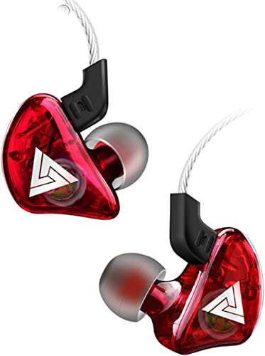 in-Ear Headphones Wired Earbuds Stereo Headphone Headset Earphone 3.5mm with Mic Super Bass Music Sports Earphone for Smartphone PC Tablet Red