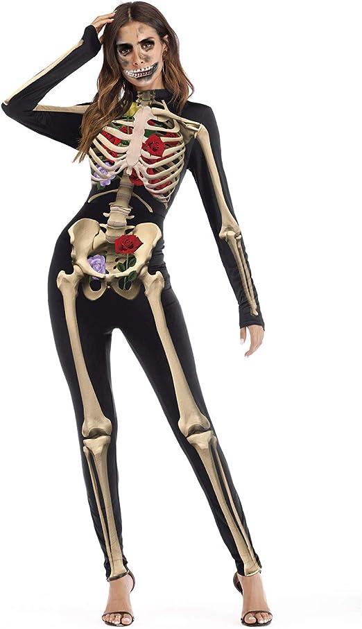 housesweet Disfraces Chica Mujeres Skeleton Skin Suit Bones ...