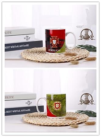 VIO Copa del mundo de cerámica Copa Fútbol Regalos creativos Memorial Cup Beer,Portugal,Un tamaño: Amazon.es: Deportes y aire libre