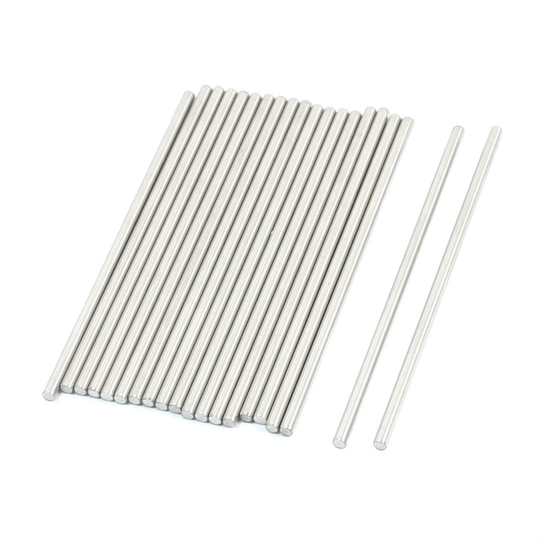 uxcell 20Pcs RC Toy Car Model Part Stainless Steel Round Rod Axle 3mmx90mm a14061800ux0213