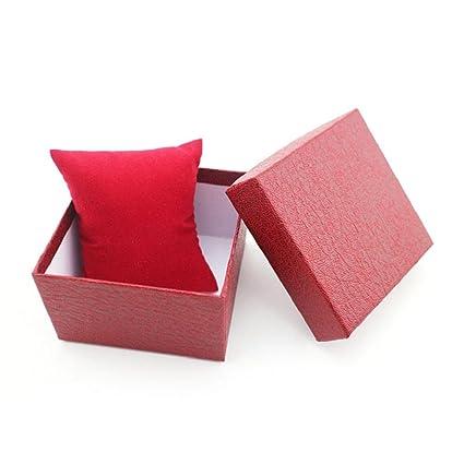 Suppion reloj pulsera reloj cajas de joyería caja de regalo, duradero, con almohadilla de