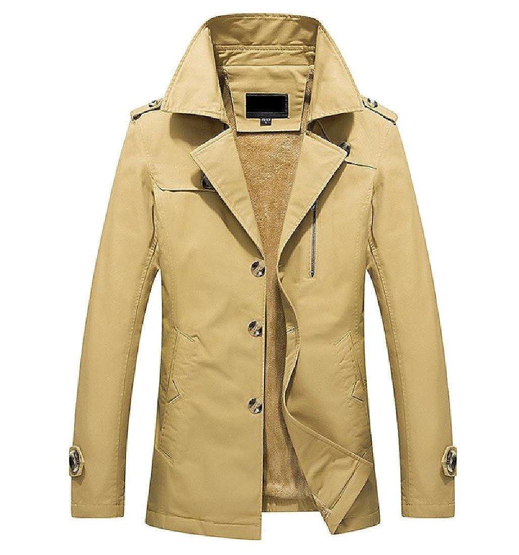 Kankanluck Men Lapel Business Basic Cotton Classic Jackets Plus Size Winter Coat