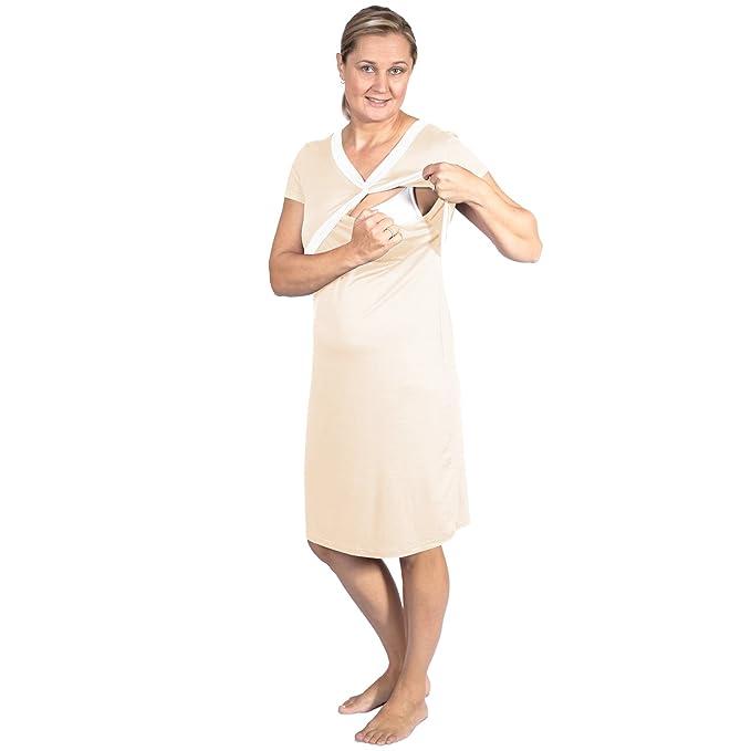 Nursing Nightgown for Breastfeeding & Pregnancy with eBook by Ibloom ...