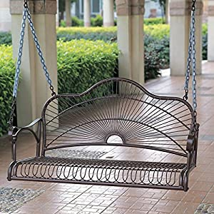 International Caravan Sun Ray Iron Porch Swing