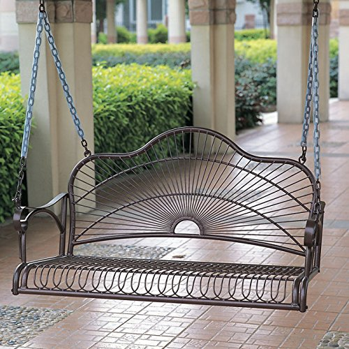 Caravan Sun Ray Iron Porch Swing