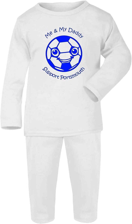 Hat-Trick Designs Portsmouth Football Baby Pyjamas Set PJs Nightwear//Sleepwear-Me /& My-Unisex Gift