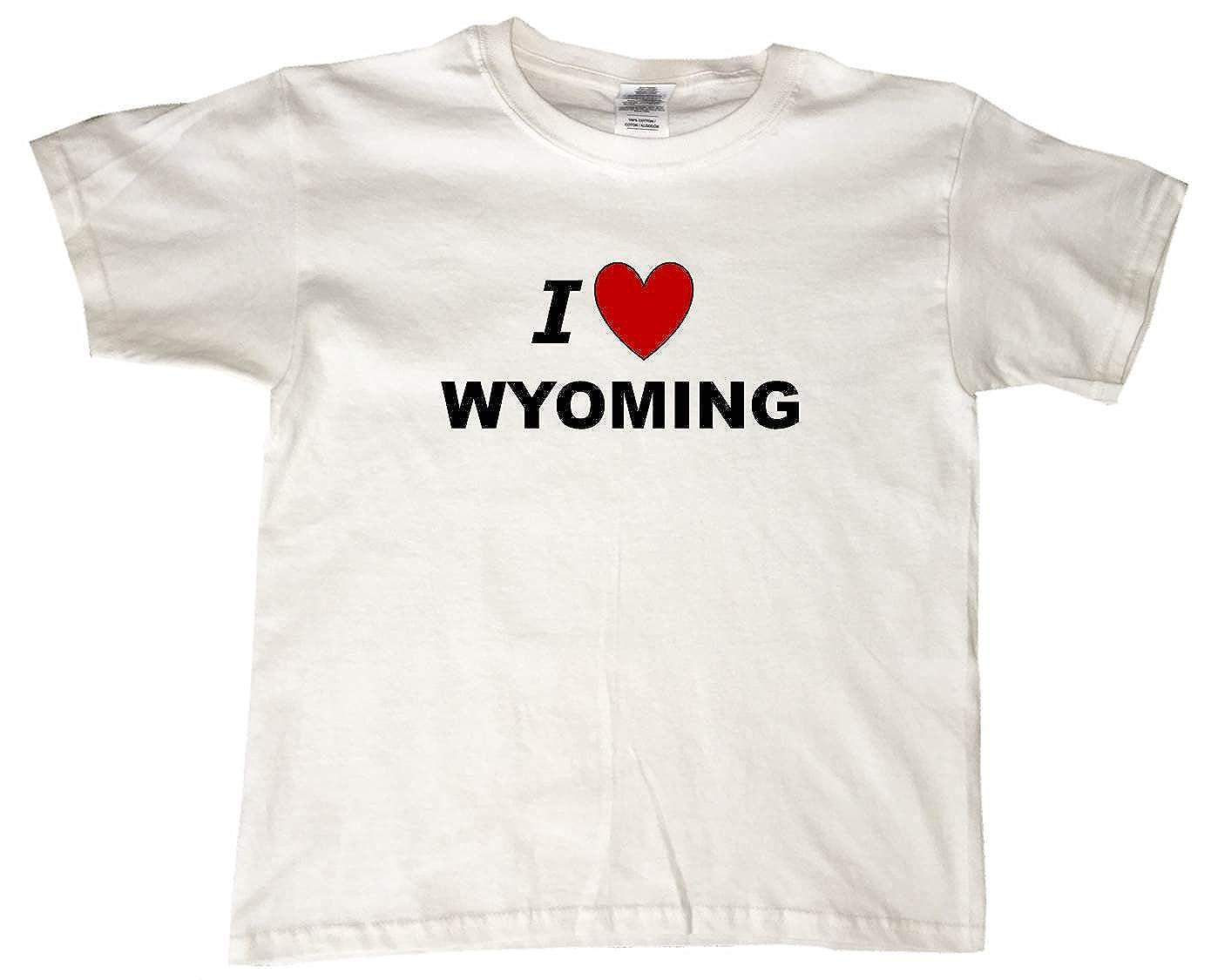 I LOVE WYOMING - BigBoyMusic Youth Designs - White T-shirt