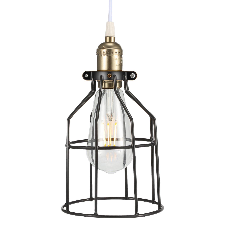 Kohree Metal Bulb Guard Lamp Cage For Pendant Light Lamp