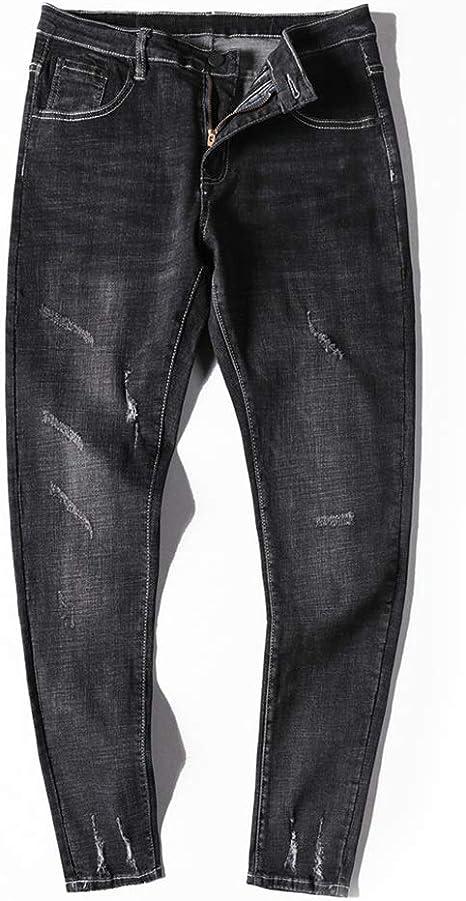 Pantalones De Mezclilla Negro Para Hombre