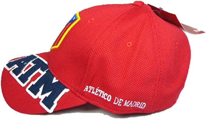 GORRA OFICIAL ATLETICO DE MADRID ATM ROJO 2016 ADULTO: Amazon.es ...