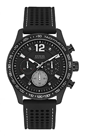 Guess Watches Mens Guess Mens Black Watch