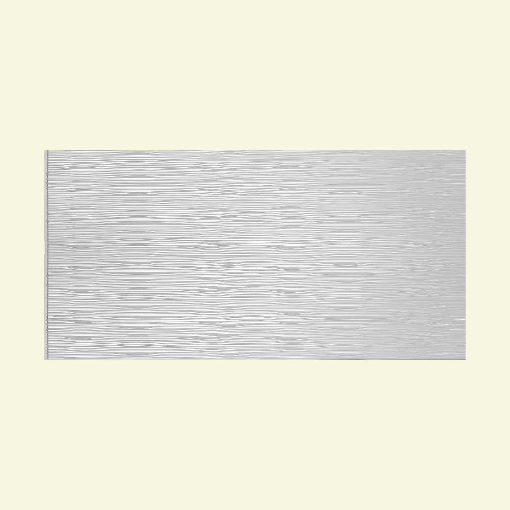 Fasade - Waves Horizontal Gloss White Decorative Wall Panel - Fast and Easy Installation (4' X 8' Panel) by Fasade
