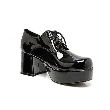 88037c63c3a41 Amazon.com: Pimp Adult Costume Shoes Black - Medium: Clothing