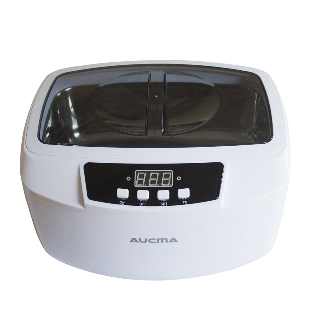 Aucma 160W Professional Heated Ultrasonic Cleaner 2.6Qt/2.5L Digital Ultrasonic Gun Cleaner