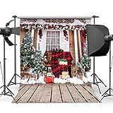 SJOLOON 8x8ft Beautiful Christmas theme Vinyl cloth Wood Floor Newborn photography Backdrop Background studio prop JLT10280
