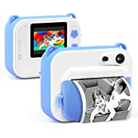 "IDEER LIFE Instant Print Camera for Kids, Kids Digital Print Camera & Video w/ 1080P HD Video, Print Paper, 2.0"" HD Screen, Selfie Mirror, Creative Toy Camera & Birthday Gifts for Boys and Girls"