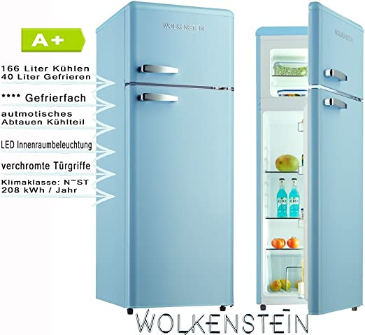 Wolkenstein GK212.4RT LB Nevera/congelador, color azul: Amazon.es ...