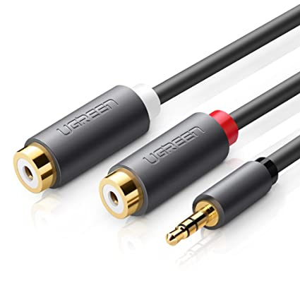 Amazon ugreen 35mm male to 2 rca female jack stereo audio ugreen 35mm male to 2 rca female jack stereo audio cable y adapter gold plated keyboard keysfo Choice Image