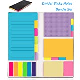 Sticky Notes Colored Divider Self-Stick Notes Set