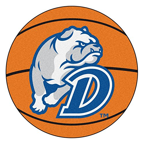 NCAA Drake University Bulldogs Basketball Shaped Mat Area Rug