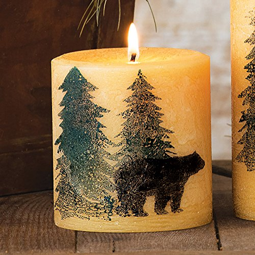 Black Bear Balsam Pine Lodge Candle - Small - Wilderness (Silk Screened Silhouette)