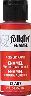 product image for FolkArt Enamel Glass & Ceramic Paint in Assorted Colors (2 oz), 4006, Engine Red