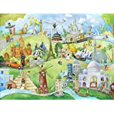 High Quality Full Wall Size Mural Photo of: Leonard On Holiday for Children. Prepasted, Dry Strippable, Removable, Reusable, Washable, Easy for U to hang using our Inst. video. Multiple Sizes Available. (10.5-Feet wide by 8-Feet high)