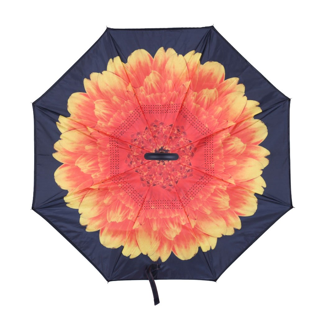 Inverted Umbrella for Women with UV Protection, Upside Down Umbrella With C-Shaped Handle Sharpty