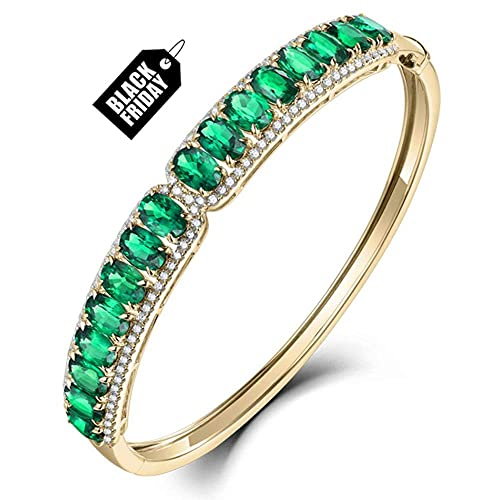 Echter Smaragd und Diamantarmband Verlobungsarmband