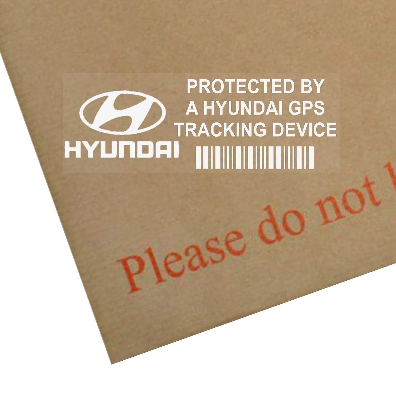Platinum Place 5 x PPHYUNDAIGPS GPS Tracking Device Security WINDOW Stickers 87x30mm-Car,Van Alarm Tracker