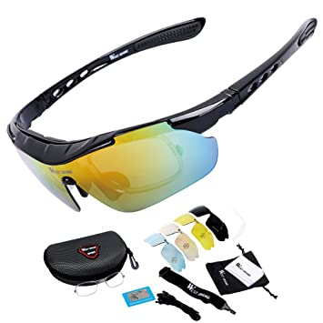 1c1338c131b West Biking Cycling Running Sports Sunglasses UV400 Polarized Bicycle  Glasses Eyewear with 5 Interchangeable Lenses for