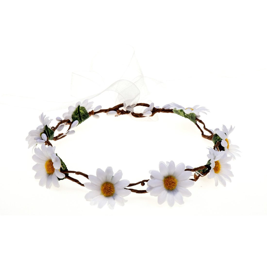 Amazon Dreamlily Wedding Festivals Floral Hair Band Adjustable