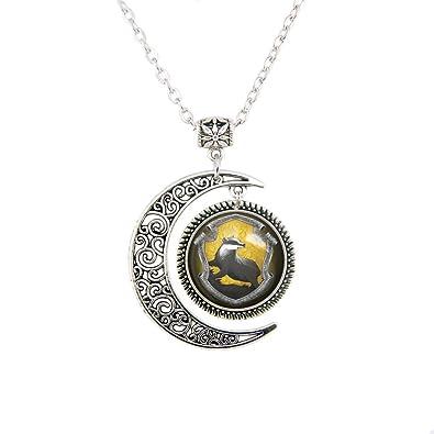 Amazon hufflepuff jewelry hufflepuff badger pendant badger hufflepuff jewelry hufflepuff badger pendant badger necklace christmas gifts aloadofball Image collections