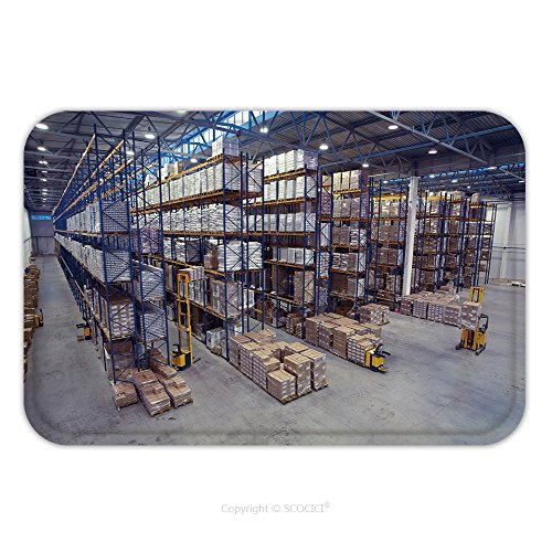 Flannel Microfiber Non-slip Rubber Backing Soft Absorbent Doormat Mat Rug Carpet St. Petersburg, Russia November 21, 2008 Top View Of The Interior Area The Warehouse Pallet Racking Storage Of Goods_