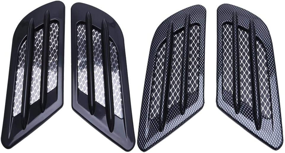 Color : Black Type 2 Auto Linee Decorative 2pcs Side Car Air Vent Adesivo In Forma For Audi ABT Fender Sticker In Forma For LAudi A6 C6 C5 A1 A3 8P A4 B8 B6 A5 A7 A8 Q3 Q5 Q7 TT RS S4