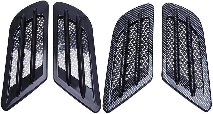 2ST Auto Air Flow Side Fender Vents Mesh-Aufkleber Grille gepasst for BMW E60 M5 E61 E39 E90 M3 E46 Auto dekorativen Blatt ABGASAUSLASS QianHaoQJu XW-CFK