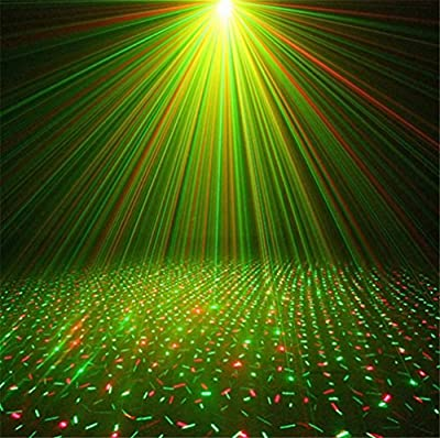 HAPPYMOOD Sterry Projection Lamp Sky stars Lights Solar Energy LED Christmas Party Outdoor Decoration Carnival Waterproof Fairy Landscape Yard Colorful Spotlight