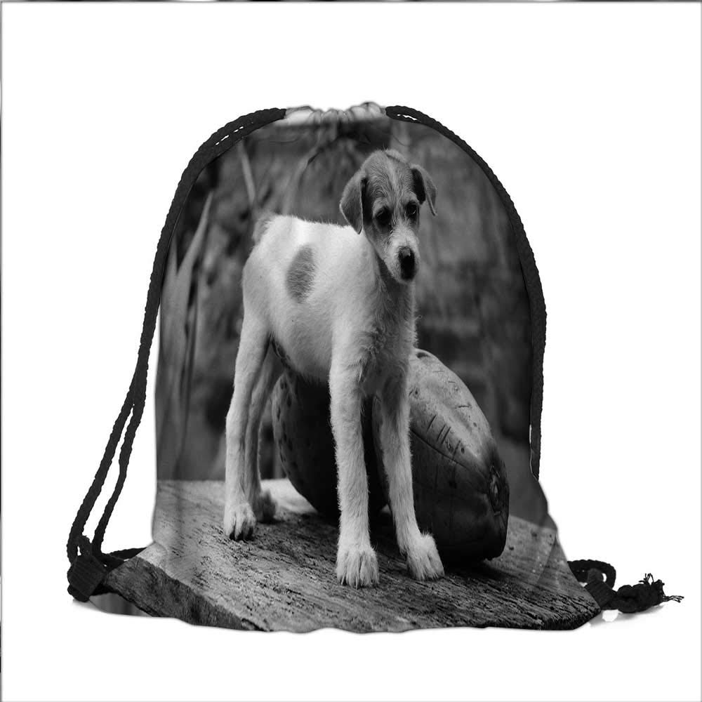 Travel Drawstring Closure Bag baby monkey Gift Bag Pouches 15''W x 18.5''H by VROSELV (Image #1)