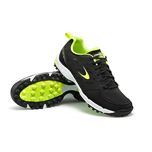 Shoes Online - Dita Mens Hockey Shoes Trainers Sports Black Yellow Uk 7 Black